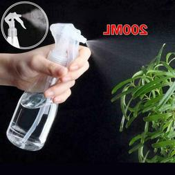 1-3pcs Portable Plastic Clear Spray Bottle Cleaning 200ml Tr