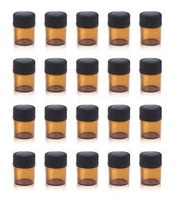 ZbFwmx 1/4 Dram Amber Mini Glass Bottle Packed Small vials S