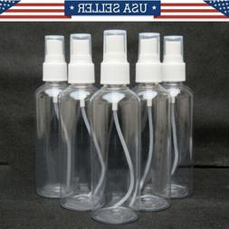 3.4 oz  Transparent Plastic Perfume Empty Mini Spray Bottle