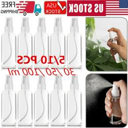 10PCS 30/50/100mL Travel Transparent Perfume Plastic Atomize