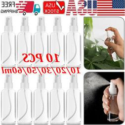 10PCS 60mL Travel Transparent Perfume Plastic Atomizer Empty