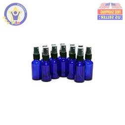 12 New, High Quality, 1 oz Cobalt Blue Glass Bottles, With B