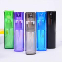 12ml Square Plastic Refillable Perfume Bottle Spray Empty Co