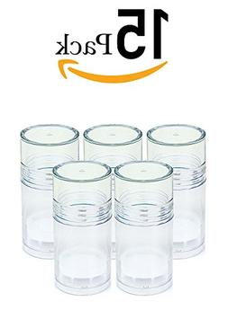 ChefLand 15 Clear Push Up Deodorant Containers Empty Bottles