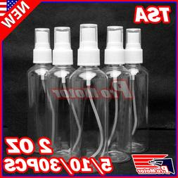 2 OZ PET TSA Clear Plastic Spray Bottles Travel Perfumes Ref