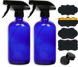 2 Pack - Simplehouseware 16Oz Blue Glass Spray Bottles With