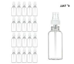 20 Clear Plastic 2oz PET Empty Spray Bottle Refill Mist Pump