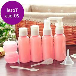 20pcs Pink Makeup Spray Bottle Cosmetic Empty Container Bott