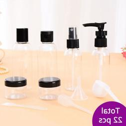 22pcs Black Makeup Spray Bottle Lotion Empty Container Bottl
