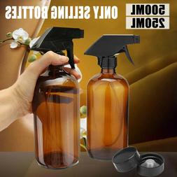 250/500ML Amber Glass Aromatherapy Essential Oil Trigger Spr