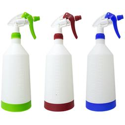 3 PACK 32 oz EMPTY PLASTIC SPRAY BOTTLE FOR COMMERCIAL CLEAN