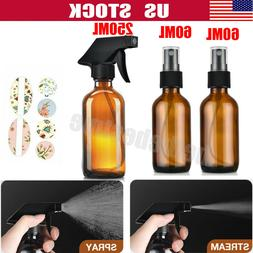 3PACK Empty Amber Glass Spray Bottle Mist Cleaning Large Ref