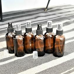 4 oz Fine Mist Amber Spray Glass Bottles - Borsellic Glass,