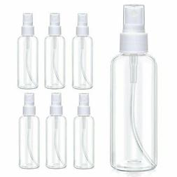 6-Pack 30ml/60mlTravel Spray Bottle Plastic Transparent Perf