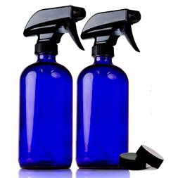 Chefland 16 oz Refillable Bule Cobalt Glass Spray Bottles fo