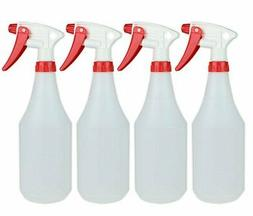 Empty Durable Round Spray Bottles 100% Leak Proof-4 Pack 24