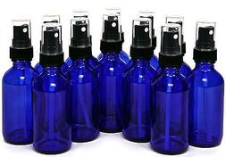 Glass Spray Bottles - 12 Piece 2oz Cobalt Blue Small Glass B