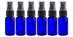 Glass Spray Bottles - 6 Piece 1oz Cobalt Blue Small Glass Bo