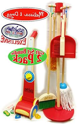 Melissa & Doug Wooden Let's Play House! Dust, Sweep, Mop & V