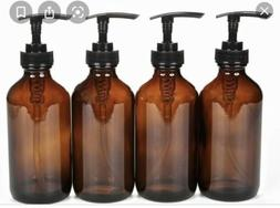 New, High Quality, Large, 16 oz, Empty, Amber Glass Spray Bo