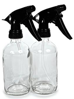 Vivaplex, 2, Large, 8 oz, Empty, Clear Glass Spray Bottles w