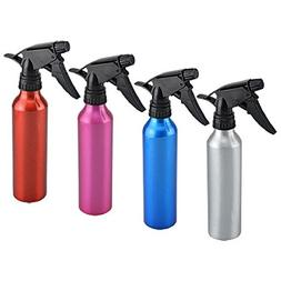 2 PACK ALUMINUM SPRAY BOTTLE ASSORTED COLORS