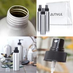 Aluminum Refillable Spray Bottle Mister - 4 oz  + Travel Bag