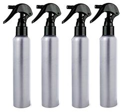 All Aluminum Spray Bottles 4 oz Mister with Fine Mist Black