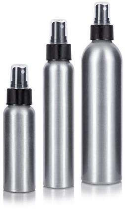 Aluminum Empty Refillable Fine Mist Spray Bottle Set 3 piece