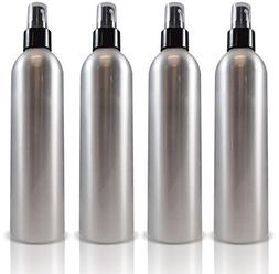 Aluminum Empty Refillable Fine Mist Spray Bottles - 4 pack