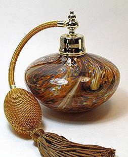 Art Amber Crystal Glass Perfume Cologne Refillable Empty Bot