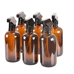 8 oz Amber Glass Spray Bottles with Caps - Refillable Contai
