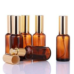 Small Amber Glass Spray Bottles for Aromatherapy Essential O