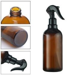 Amber Plastic Spray Bottles Trigger Sprayer Essential Oils A