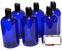 BAIRE BOTTLES - 8 OZ BLUE PLASTIC REFILLABLE BOTTLES with BL