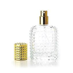 Enslz 50ml Refillable Clear Glass Luxury Spray Perfume Bottl