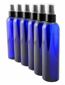 8oz Cobalt Blue Empty Plastic PET Spray Bottles with Fine Mi