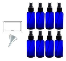 4 oz Cobalt Blue Glass Boston Round Fine Mist Spray Bottle