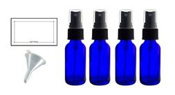 2 oz Cobalt Blue Glass Boston Round Fine Mist Spray Bottle
