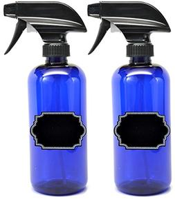 2 Pack Firefly Craft Cobalt Blue PLASTIC Spray Bottles with
