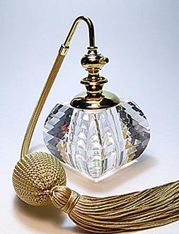 Perfume Cologne Refillable Lead Crystal Glass Bottle with Cl