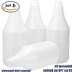 Commercial-Grade Chemical Resistant 24 oz Bottles ONLY 4 Pac