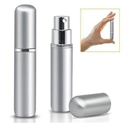 Dealetech 8pcs 5ml Mini Refillable Atomizer Bottle for Trave