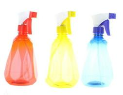 Lot of 3 Diamond Shaped Plastic Spray Mister Bottles Home To