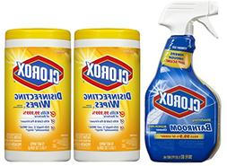 Clorox Disinfecting Wipes and Clorox Disinfecting Bathroom C