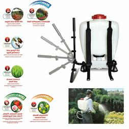 Garden Backpack Sprayer Lawn Pump 4 Gallon Chemical Tank Bot
