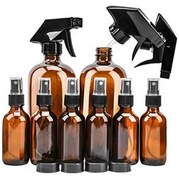Glass Spray Bottle, KAMOTA Amber Glass Spray Bottles Set  Re