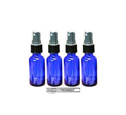 Perfume Studio® Set of 4, 1 oz Cobalt Blue Glass Spray Bott