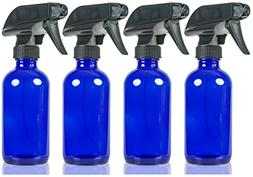 8 oz Glass Spray Bottles - NatureO Empty COBALT BLUE Spray B
