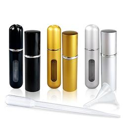 Refillable Glass Perfume and Cologne Fine Mist Atomizers wit